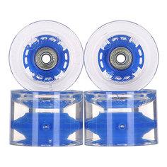 Колеса для скейтборда для лонгборда с подшипниками Sunset Long Board Wheel With Abec9 Blue 78A 69 mm