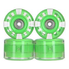 Колеса для скейтборда для лонгборда с подшипниками Sunset Long Board Wheel With Abec9 Green 78A 65 mm