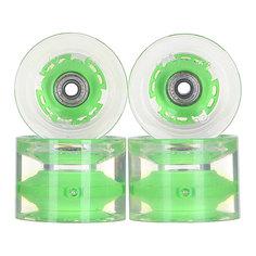 Колеса для скейтборда для лонгборда с подшипниками Sunset Long Board Wheel With Abec9 Green 78A 69 mm