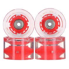 Колеса для скейтборда для лонгборда с подшипниками Sunset Long Board Wheel With Abec9 Red 78A 65 mm