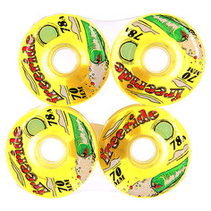 Колеса для скейтборда для лонгборда Sector 9 Freeride 7 Wheels Yellow 78A 70 mm