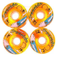 Колеса для скейтборда для лонгборда Sector 9 Freeride 7 Wheels Orange 78A 70 mm