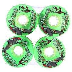 Колеса для скейтборда для лонгборда Sector 9 Freeride 6 Wheels Green 78A 65 mm
