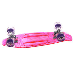 Скейт мини круизер Sunset Princess Complete Fluorescent Pink Deck Blacklight Wheels 6 x 22 (56 см)