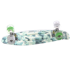 Скейт мини круизер Sunset Camo Grip Complete Green Camo Deck White/Green Wheels 6 x 22 (56 см)