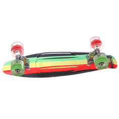 Скейт мини круизер Sunset Rasta Grip Complete Rasta Stripe Deck R/Y/G Red/Green Wheels 6 x 22 (56 см)