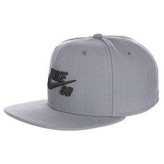 Бейсболка с прямым козырьком Nike Icon Tumbled Grey/Black/Tumbled Grey/Black