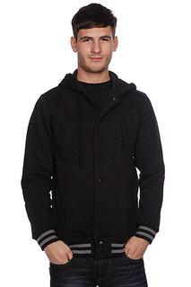 Куртка бомбер Huf Campus Snap Front Premium Hoodie Black