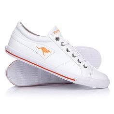 Кеды кроссовки низкие женские Kangaroos K Vulca White/Peach