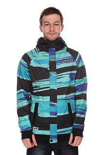Толстовка сноубордическая Neff Painted Stripe Shred Black/Blue