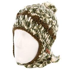 Шапка с помпоном женская Animal Ibis Knitted Hat Black/Beige