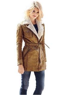 Кожаное пальто Mandarin