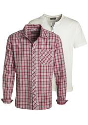 Комплект: рубашка + футболка GREY CONNECTION