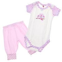 "Hudson Baby Комплект Боди с коротким рукавом и штанишки ""Органик"", 2 предмета для девочки"