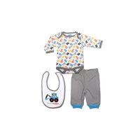 Комплект: боди, штанишки и нагрудник для мальчика Bon Bebe -