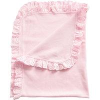 Одеяло детское вязанное с рюшами, Baby Nice, розовый