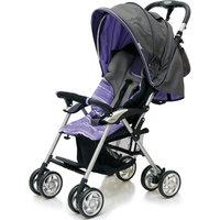 Прогулочная коляска Elegant, Jetem, темно-серый/фиолетовый, полоска