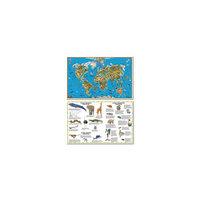 """Двусторонняя настольная карта """"Обитатели Земли"""" -"""