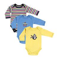 "Боди для мальчика ""Пингвин"", 3 шт.  Hudson Baby"