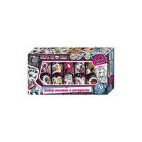 Набор наклеек и раскрасок в коробке, Monster High Росмэн