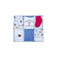 Подарочный набор, 6 пр. (боди к/р, футболка к/р, штанишки, носочки, шапочка, нагрудник) для мальчика Luvable Friends