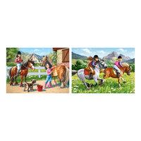 """Набор пазлов """"Верхом на лошади"""", 165*240 деталей, Castorland"""