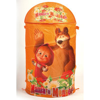 Корзина для игрушек, Маша и медведь Играем вместе