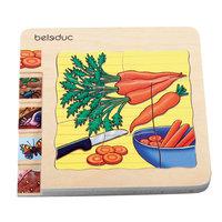 """Многослойный пазл """"Морковка"""", 30 деталей, Beleduc"""
