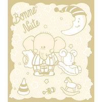 Одеяло байковое Слоник 100х118, Baby Nice, бежевый