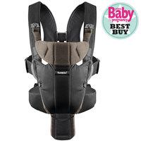 Рюкзак-кенгуру Miracle, BabyBjorn, черный с коричневым