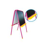 Розовый двусторонний мольберт с буквами Дэми