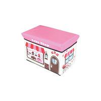 """Пуф-короб для игрушек """"Кондитерская"""" 40*25*25 см Рыжий кот"""