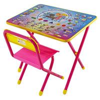"""Розовый набор детской мебели """"Электроник"""" с пеналом (2-5 лет), Дэми"""
