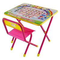 """Розовый набор детской мебели """"Алфавит"""" с пеналом (2-5 лет), Дэми"""