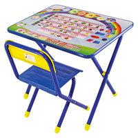 """Синий набор детской мебели """"Алфавит"""" с пеналом (2-5 лет), Дэми"""