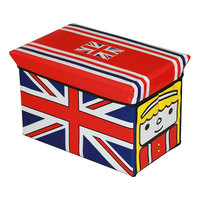 """Пуф-короб для игрушек """"Английский автобус"""" Рыжий кот"""