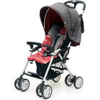 Прогулочная коляска Elegant, Jetem, темно-серый/красный, полоска