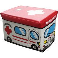 """Пуф-короб для игрушек """"Скорая помощь"""" 49*31*31 см Рыжий кот"""