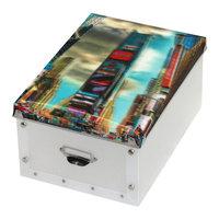 """Коробка для игрушек """"Таймс-Сквер"""" с 3D рисунком Рыжий кот"""