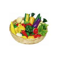 Набор игрушечный Овощи и Фрукты 23шт в корзинке, GOKI