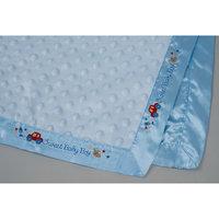 Голубой плед с атласной окантовкой 80*110 см Непоседа