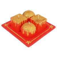 Набор свечей «Праздничная геометрия» на подставке Волшебная Страна