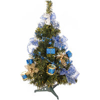 Ель декорированная, 51 см, синие украшения Волшебная Страна