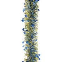 Мишура фигурная, 4 слоя, 10 см х 2 м, цвет - золото, голубой Волшебная Страна