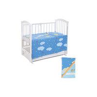 Постельное белье Ночное небо, 3 пр., Leader kids, голубой