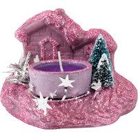 Свеча «Зимняя деревня» с подставкой Волшебная Страна