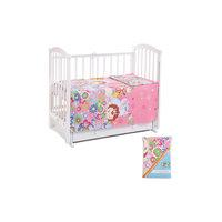 Постельное белье Звери в цветах, 3 пр., Leader kids, розовый