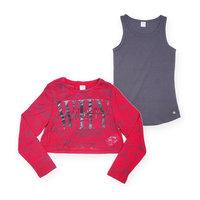 Комплект для девочки: футболка с длинным рукавом рукавом и топ s.Oliver