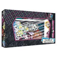 Набор канцелярский: ноутбук, ручка, карандаш ч/г с ластиком, Monster High Академия групп