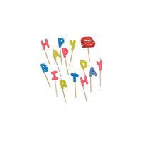"""Свечи-буквы """"Happy Birthday"""", Тачки Procos"""